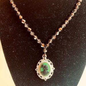 custom made Jewelry - African American Swarovski crystal necklace